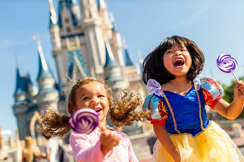 Children dressed as Princesses at Disney