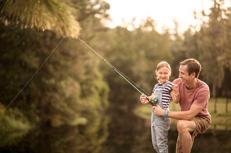 Fishing at Disney World