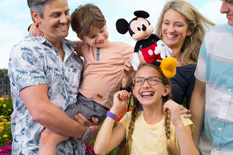 Disney Family with Magic Bands