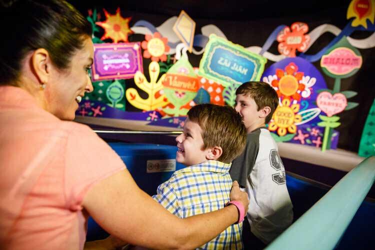 Kids on Ride at Disney World