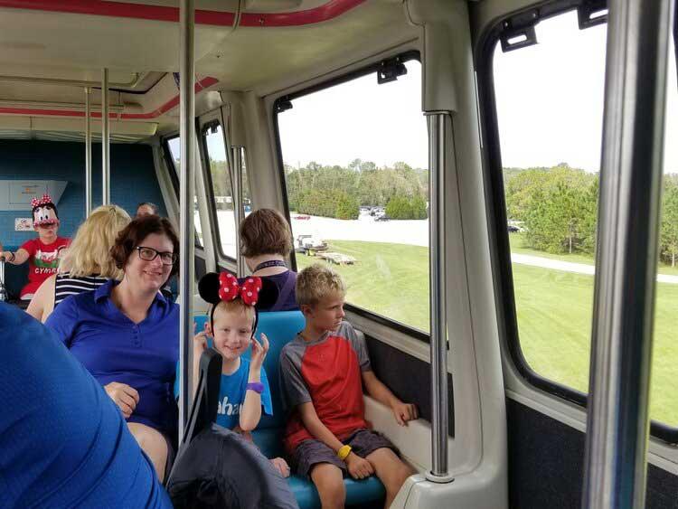 Riding the Disney Monorail