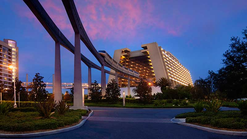 Contemporary Resort with Monorail