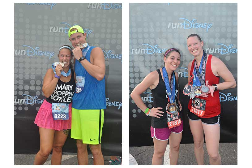 runDisney Runners with Medals